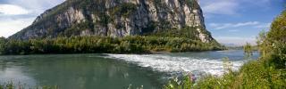 Panoramique de l'Isère au Bec de l'Echaillon (Le Bec de l'Echaillon)