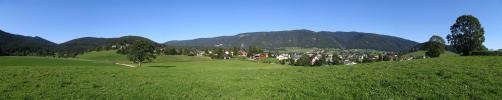 Panoramique - Autrans depuis le bourg de dessous (Autrans)