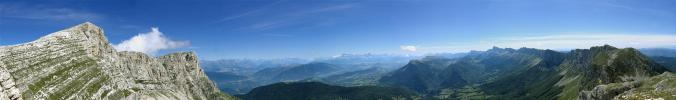 Panoramique Grande Moucherolle - Trièves (Petite et Grande Moucherolle)
