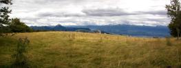 Vue panoramique - Pâturages sur la Dent du Loup (Dent du Loup et gouffre Berger)