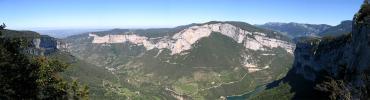 Panorama sur la vallée de la Bourne (Belvédère des Rochers du Bournillon)