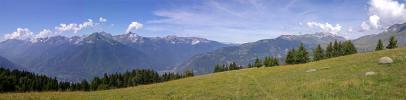 Vallée de la Maurienne - Massif de Belledonne et sommets de la Lauzière (Col du Chaussy)