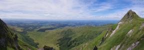 Panorama depuis le Puy de Sancy sur le plateau d'Artense (Puy de Sancy)
