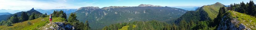 Panoramique - Depuis les crête de Mont-Fromage (La Pinéa depuis Orgeval)