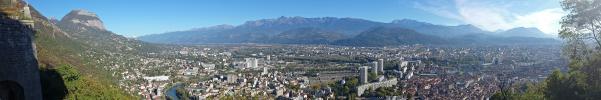 Panoramique - Grenoble depuis la Bastille (Grenoble panoramique)