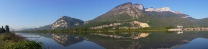 Panoramique Vercors depuis l'Isère (Le Vercors depuis Saint-Egrève)