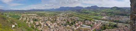 Panoramique - Crest depuis le sommet du donjon (Crest)