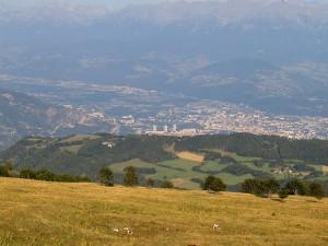 Grenoble depuis le Pas du Tracollet