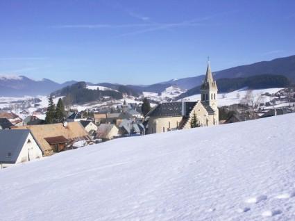 Méaudre sous la neige depuis le Chatelard