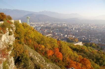 Grenoble depuis les contreforts de la Bastille