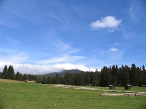 Prairie de Gève - Les nuages arrivent par le Pas de la Clé