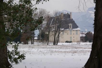 Château de Sassenage sous la neige