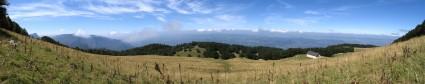 La prairie de Fessole en fin d'été - Vue panoramique