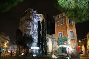 Vieux immeubles en trompe-l'oeil