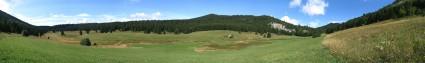 Plaine d'Herbouilly - Vue panoramique, Août 2006
