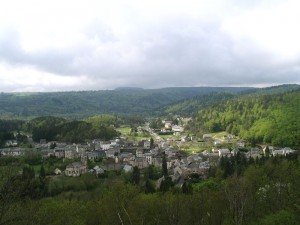 Le bourg de Murol