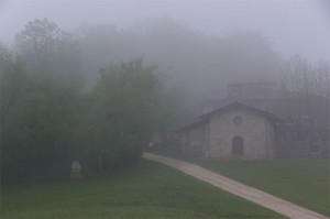Chapelle de Parménie au petit matin