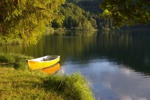 Barque au couchant
