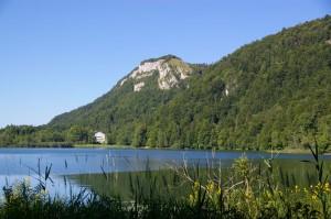 Lac de Bonlieu depuis la rive