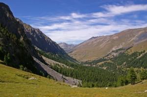 Vallée du Cristillan depuis sous le lac Clausis