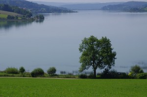 Lac de Saint-Point depuis Grange Tavernier