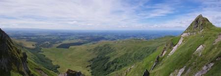 Panorama depuis le Puy de Sancy sur le plateau d'Artense