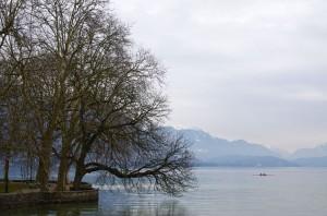 Lac d'Annecy depuis les berges de l'Impérial