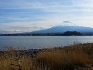 Mont Fuji depuis les rives du lac Kawaguchi
