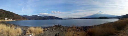 Panoramique - Lac Kawaguchi et Fuji San