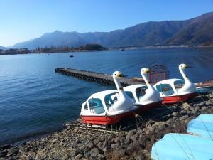 Pédalos en bord de lac Kawaguchi