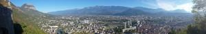 Panoramique - Grenoble depuis la Bastille