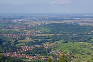 Obernai et la plaine d'Alsace