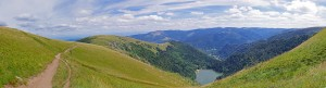 Panoramique - Lac Schiessrothried depuis le Hohneck