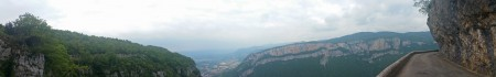 Panoramique - Route et cirque de Combe Laval