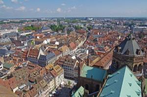 Toits de Strasbourg depuis la Cathédrale