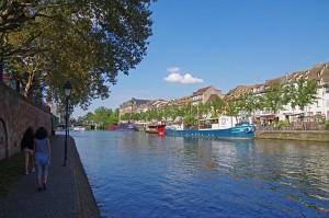 Strasbourg - Péniches sur l'Ill