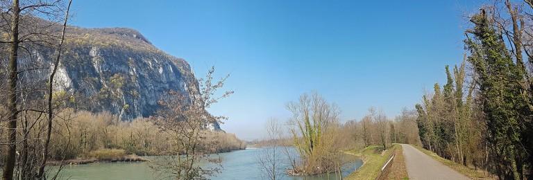 L'Isère au Bec de l'Echaillon