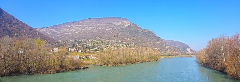 L'Isère au pont de Veurey