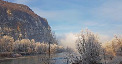 Voie verte sur l'Isère - Bec de l'Echaillon