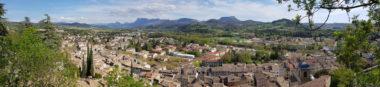Panoramique - Crest depuis le parvis du donjon