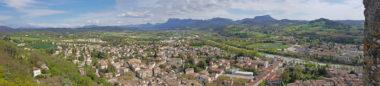 Panoramique - Crest depuis le sommet du donjon